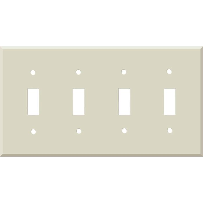 Corian Bone Quad 4 Toggle Light Switch Covers