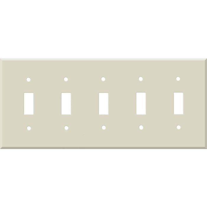 Corian Bone 5 Toggle Wall Switch Plates