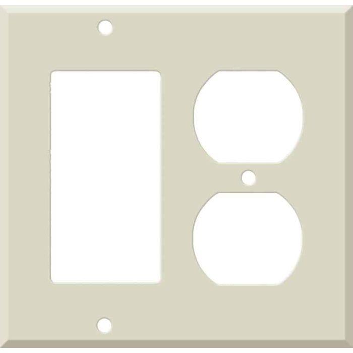 Corian Bone Combination GFCI Rocker / Duplex Outlet Wall Plates