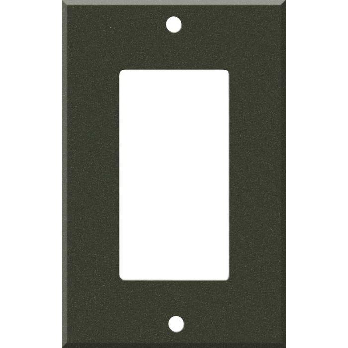 Corian Bronze Patina 1-Gang GFCI Decorator Rocker Switch Plate Cover
