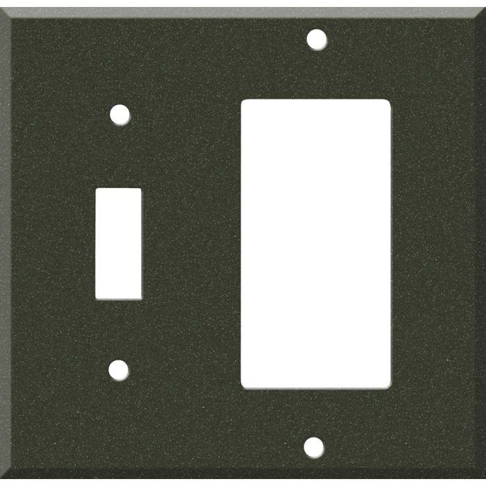 Corian Bronze Patina 1 Toggle Wall Switch Plate - GFI Rocker Cover Combo