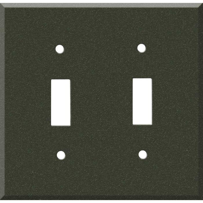 Corian Bronze Patina 2 Toggle Switch Plates