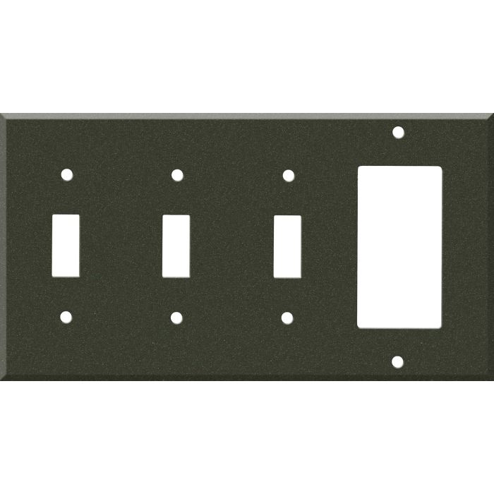 Corian Bronze Patina 3-Toggle / 1-Decorator / Rocker - Combination Wall Plates