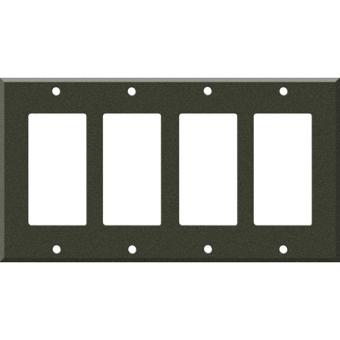 Corian Bronze Patina 4 Rocker GFCI Decorator Switch Plates