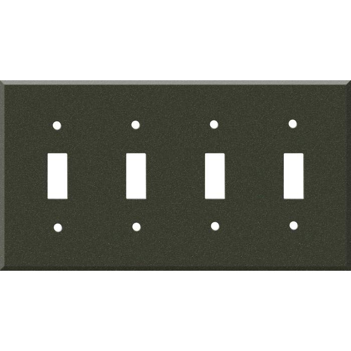 Corian Bronze Patina Quad 4 Toggle Light Switch Covers