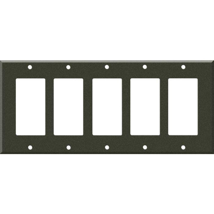 Corian Bronze Patina 5 GFCI Rocker Decora Switch Covers