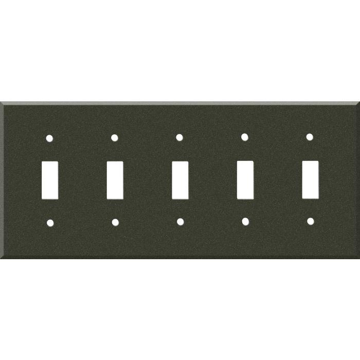 Corian Bronze Patina 5 Toggle Wall Switch Plates