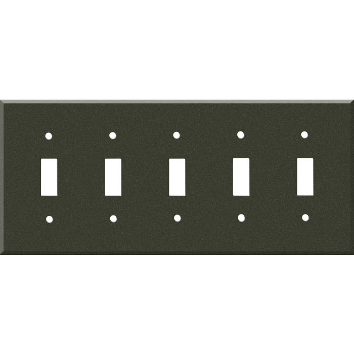 Corian Bronze Patina 5 Toggle Light Switch Covers