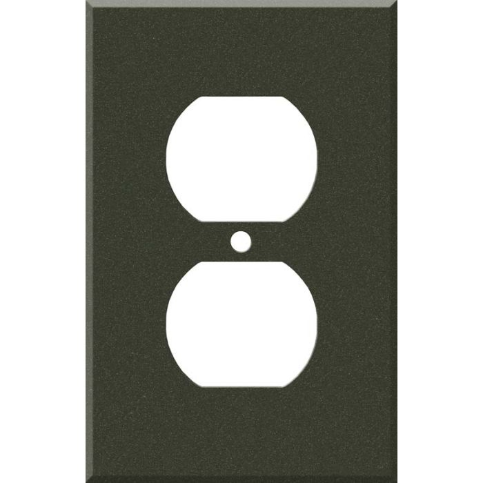Corian Bronze Patina 1 - Gang Duplex Outlet Cover Wall Plate