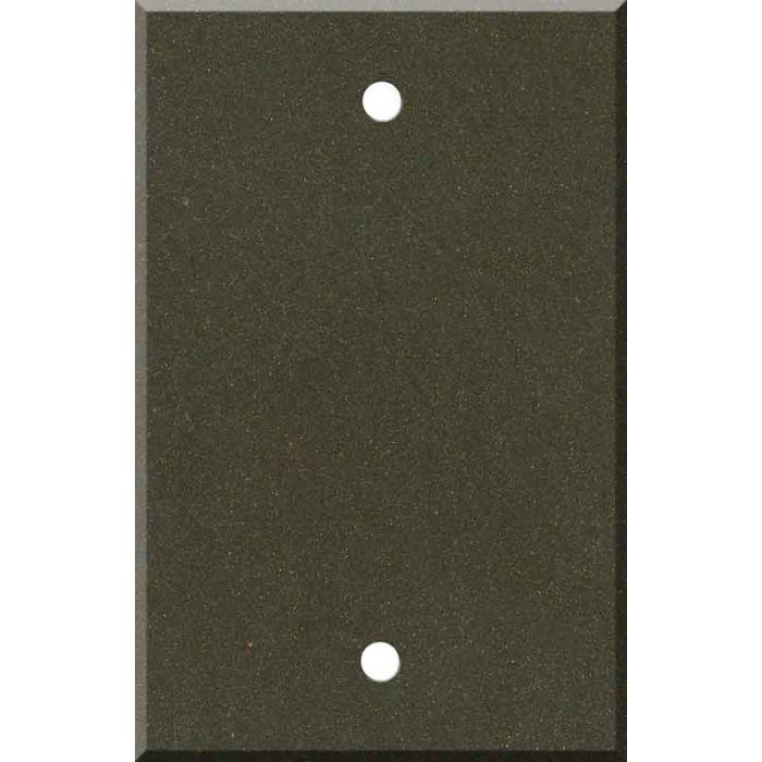 Corian Bronzite Blank Wall Plate Cover