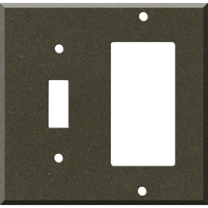 Corian Bronzite Combination 1 Toggle / Rocker GFCI Switch Covers