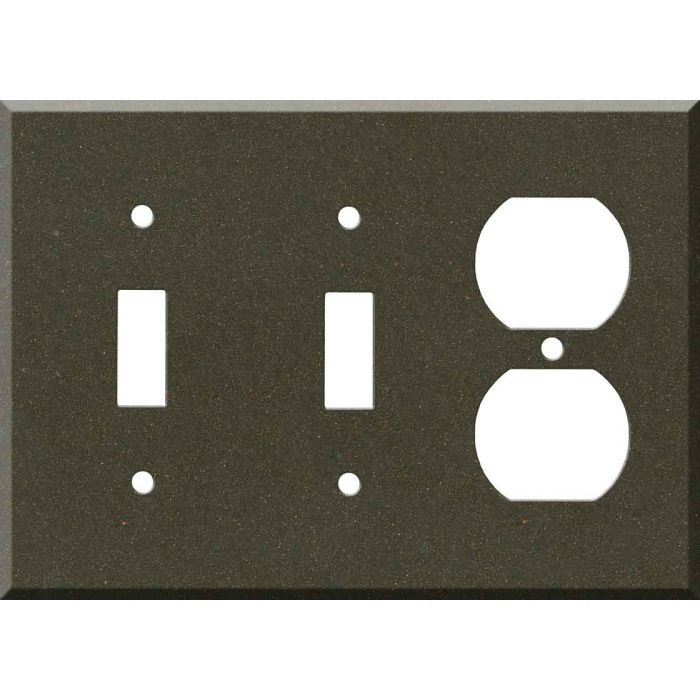 Corian Bronzite Double 2 Toggle / Outlet Combination Wall Plates