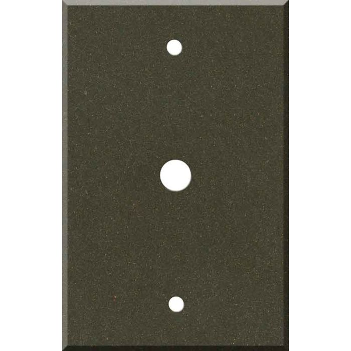 Corian Bronzite Coax Cable TV Wall Plates