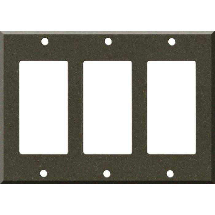 Corian Bronzite Triple 3 Rocker GFCI Decora Light Switch Covers