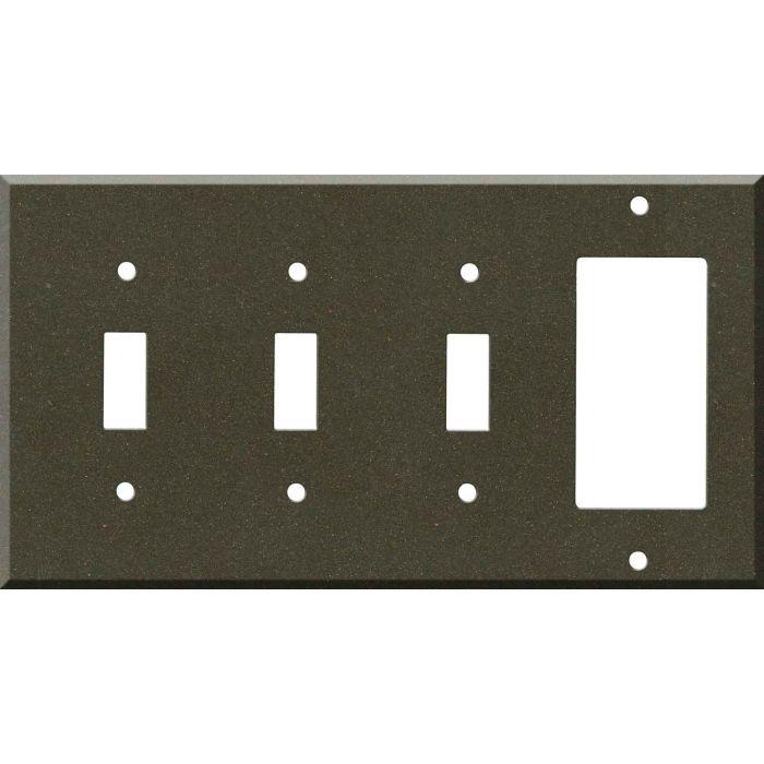 Corian Bronzite Triple 3 Toggle / 1 Rocker GFCI Switch Covers