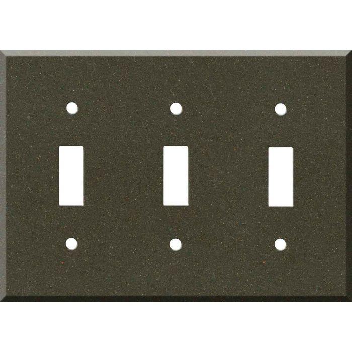 Corian Bronzite Triple 3 Toggle Light Switch Covers