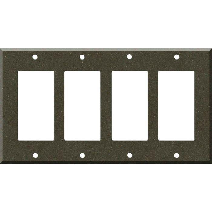 Corian Bronzite 4 Rocker GFCI Decorator Switch Plates