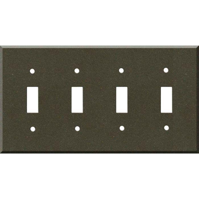 Corian Bronzite Quad 4 Toggle Light Switch Covers