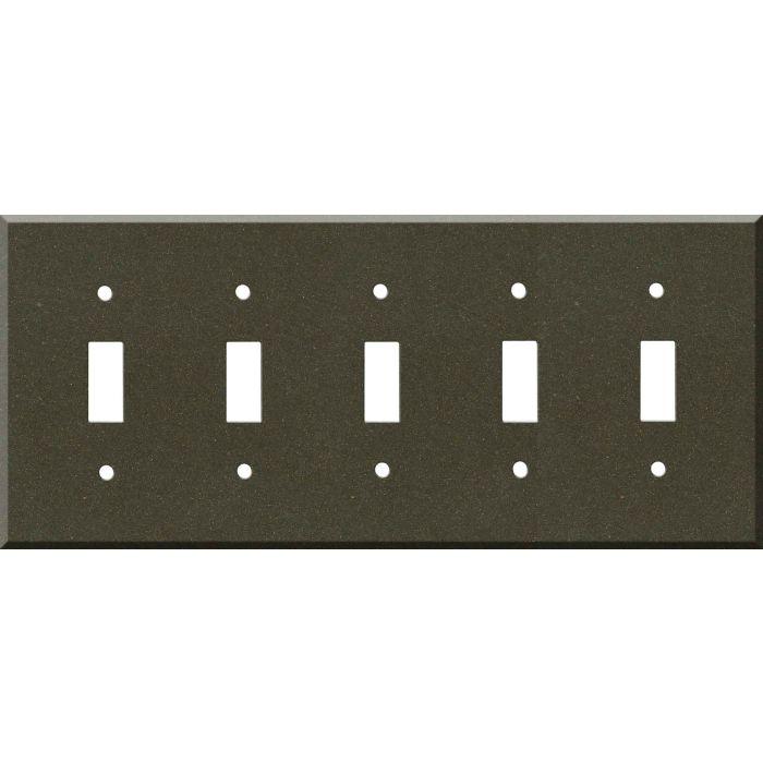 Corian Bronzite 5 Toggle Wall Switch Plates