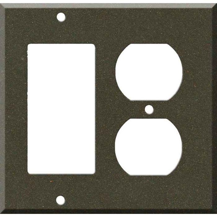 Corian Bronzite Combination GFCI Rocker / Duplex Outlet Wall Plates
