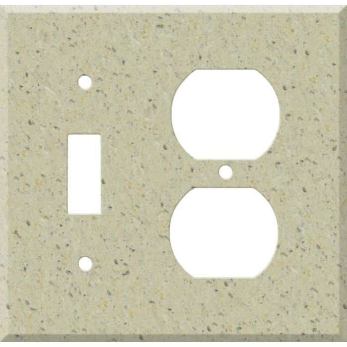 Corian Burled Beach Combination 1 Toggle / Outlet Cover Plates