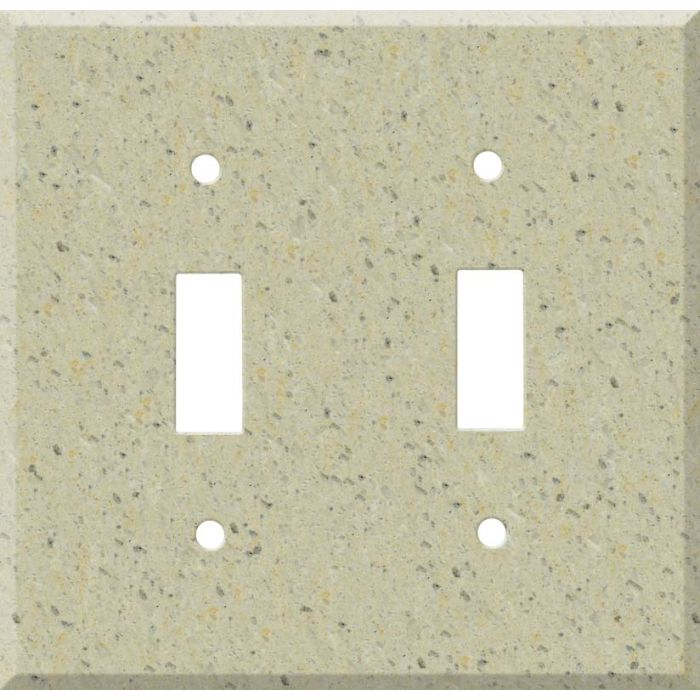 Corian Burled Beach Double 2 Toggle Switch Plate Covers
