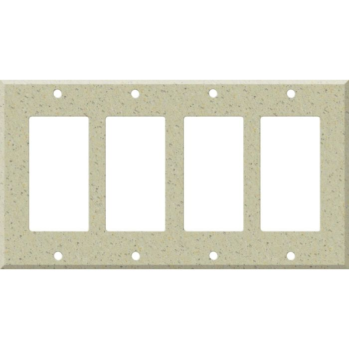 Corian Burled Beach 4 Rocker GFCI Decorator Switch Plates