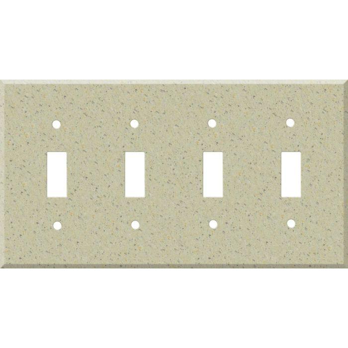 Corian Burled Beach Quad 4 Toggle Light Switch Covers
