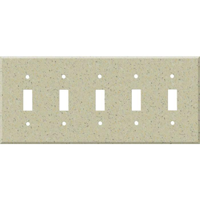 Corian Burled Beach 5 Toggle Wall Switch Plates