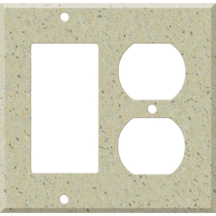 Corian Burled Beach Combination GFCI Rocker / Duplex Outlet Wall Plates