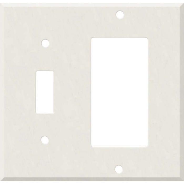 Corian Cameo White Combination 1 Toggle / Rocker GFCI Switch Covers