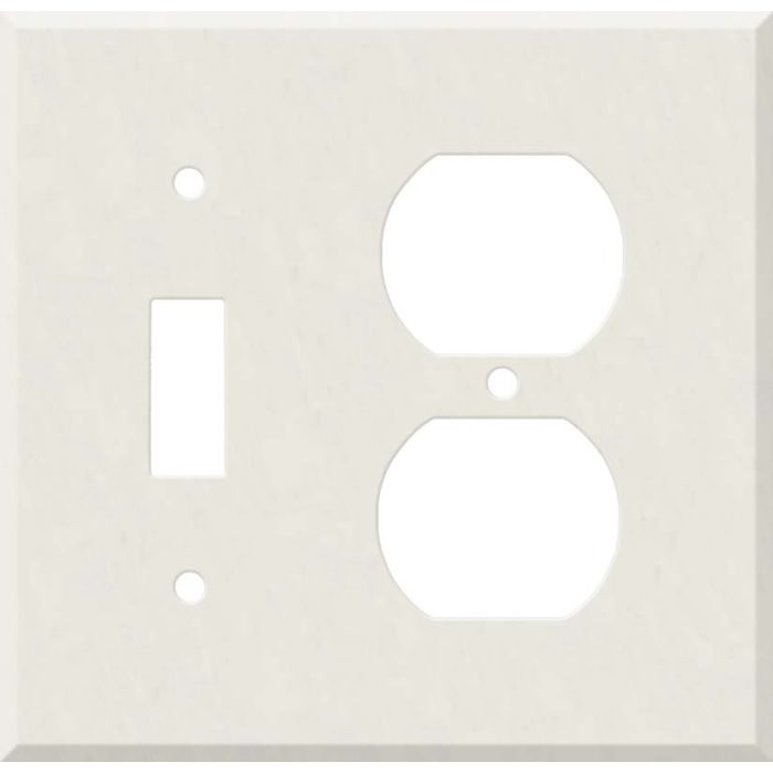 Corian Cameo White Combination 1 Toggle / Outlet Cover Plates