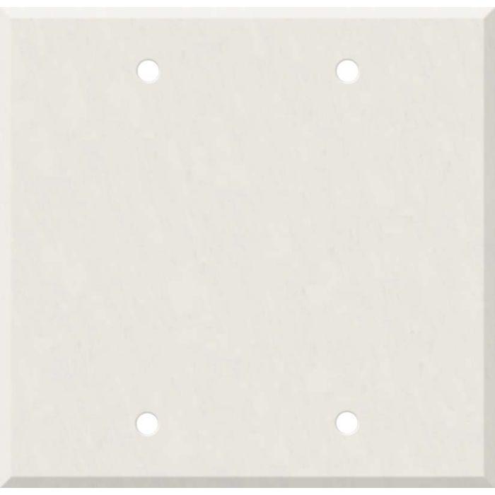 Corian Cameo White Double Blank Wallplate Covers