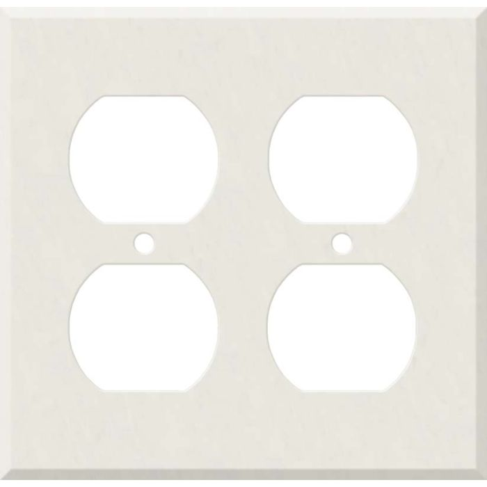 Corian Cameo White 2 Gang Duplex Outlet Wall Plate Cover