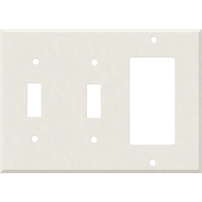 Corian Cameo White Double 2 Toggle / 1 GFCI Rocker Combo Switchplates