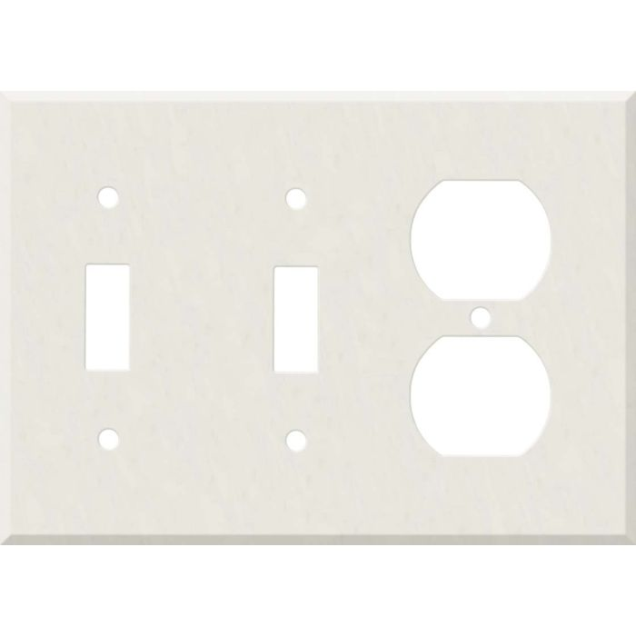Corian Cameo White Double 2 Toggle / Outlet Combination Wall Plates