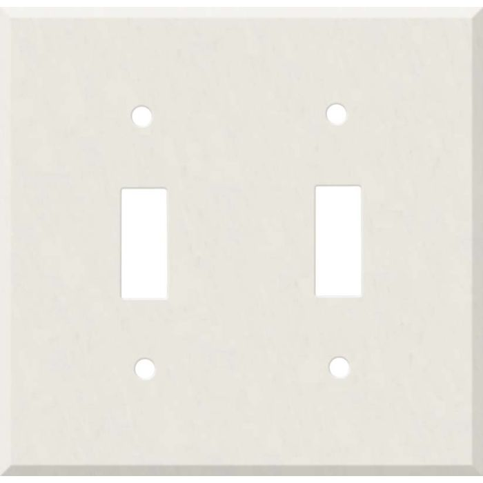 Corian Cameo White Double 2 Toggle Switch Plate Covers