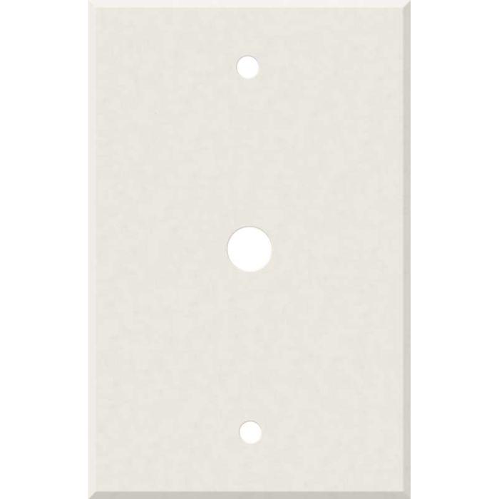 Corian Cameo White Coax Cable TV Wall Plates