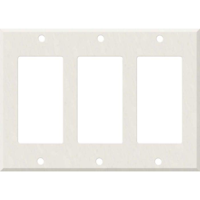 Corian Cameo White Triple 3 Rocker GFCI Decora Light Switch Covers