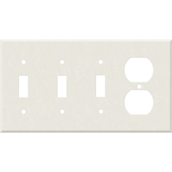 Corian Cameo White Combination Triple 3 Toggle / Outlet Wall Plate Covers