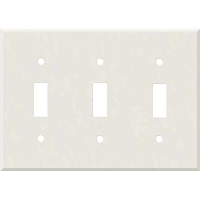 Corian Cameo White Triple 3 Toggle Light Switch Covers