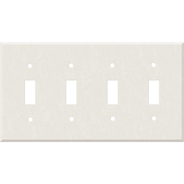 Corian Cameo White Quad 4 Toggle Light Switch Covers
