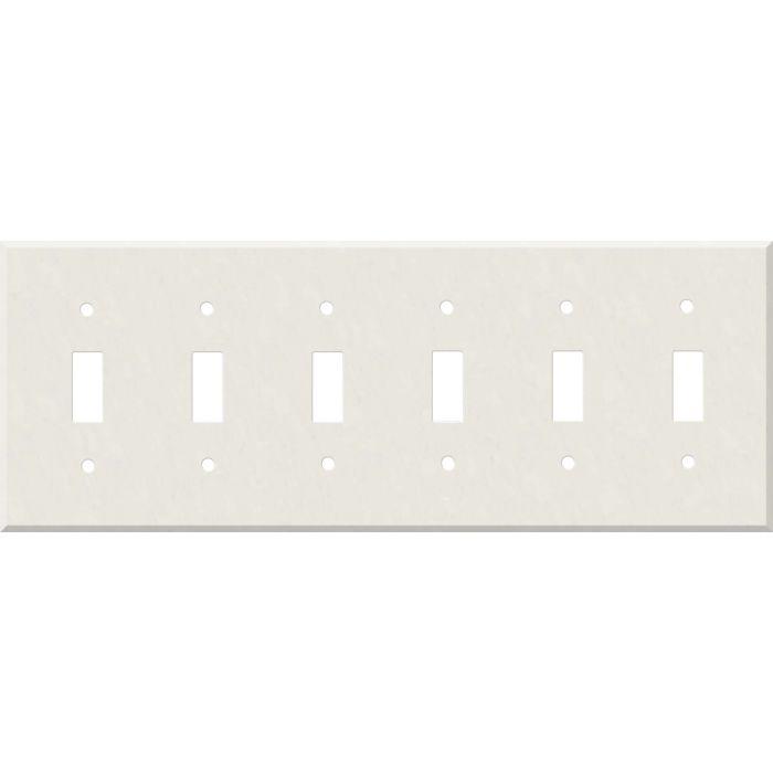 Corian Cameo White 6 Toggle Wall Plate Covers