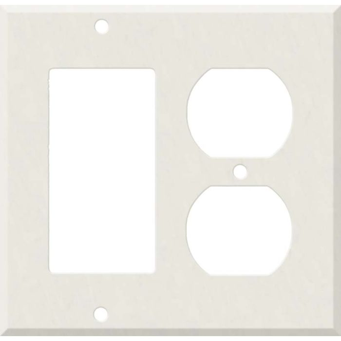 Corian Cameo White Combination GFCI Rocker / Duplex Outlet Wall Plates