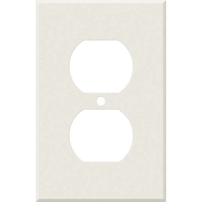 Corian Cameo White 1 Gang Duplex Outlet Cover Wall Plate