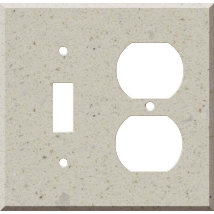 Corian Canvas Combination 1 Toggle / Outlet Cover Plates