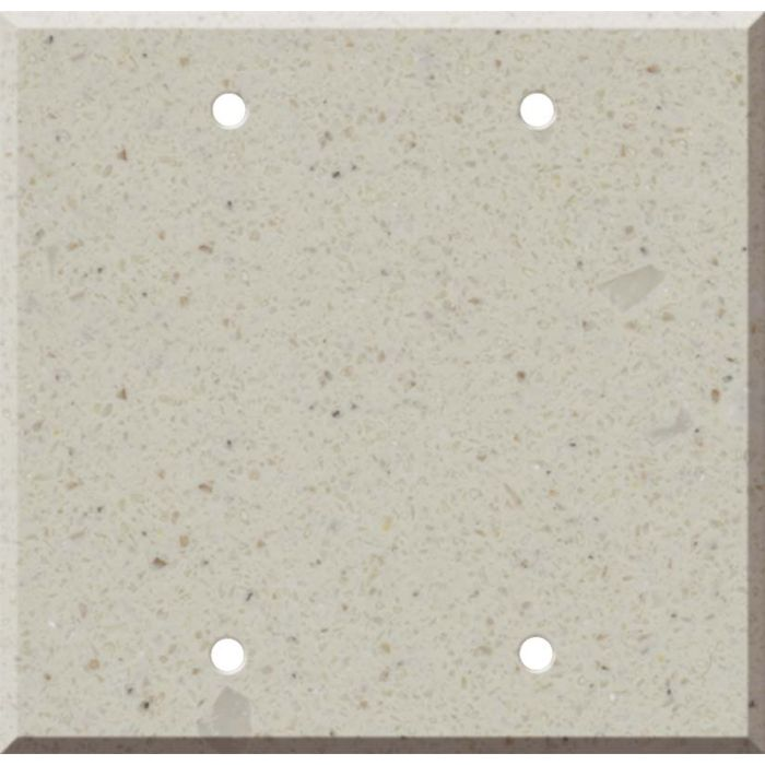 Corian Canvas Double Blank Wallplate Covers