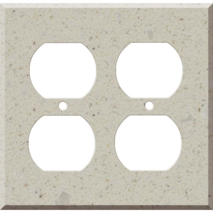 Corian Canvas 2 Gang Duplex Outlet Wall Plate Cover