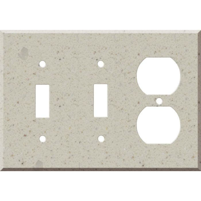 Corian Canvas Double 2 Toggle / Outlet Combination Wall Plates