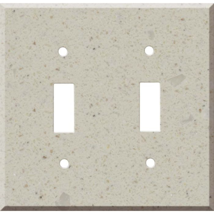 Corian Canvas Double 2 Toggle Switch Plate Covers